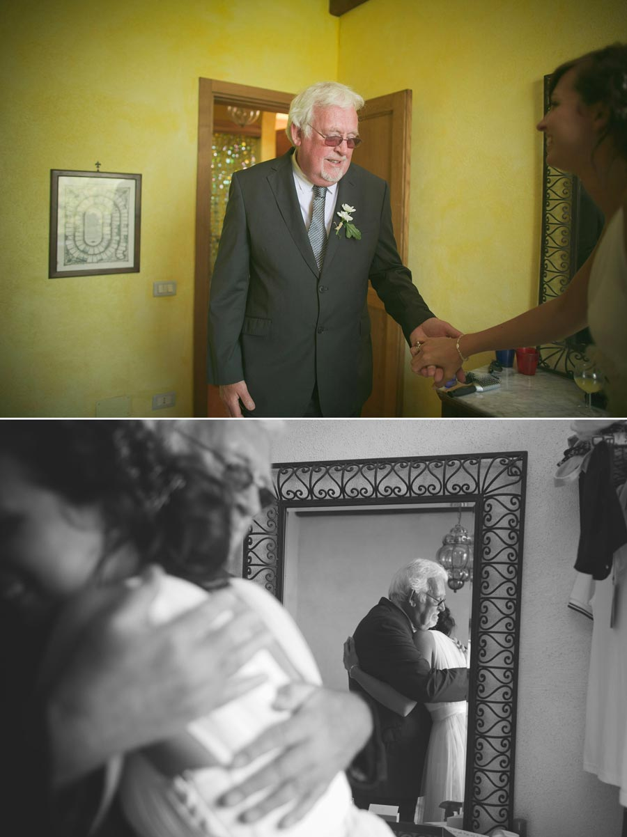 father of the bride cries when he sees his daughter