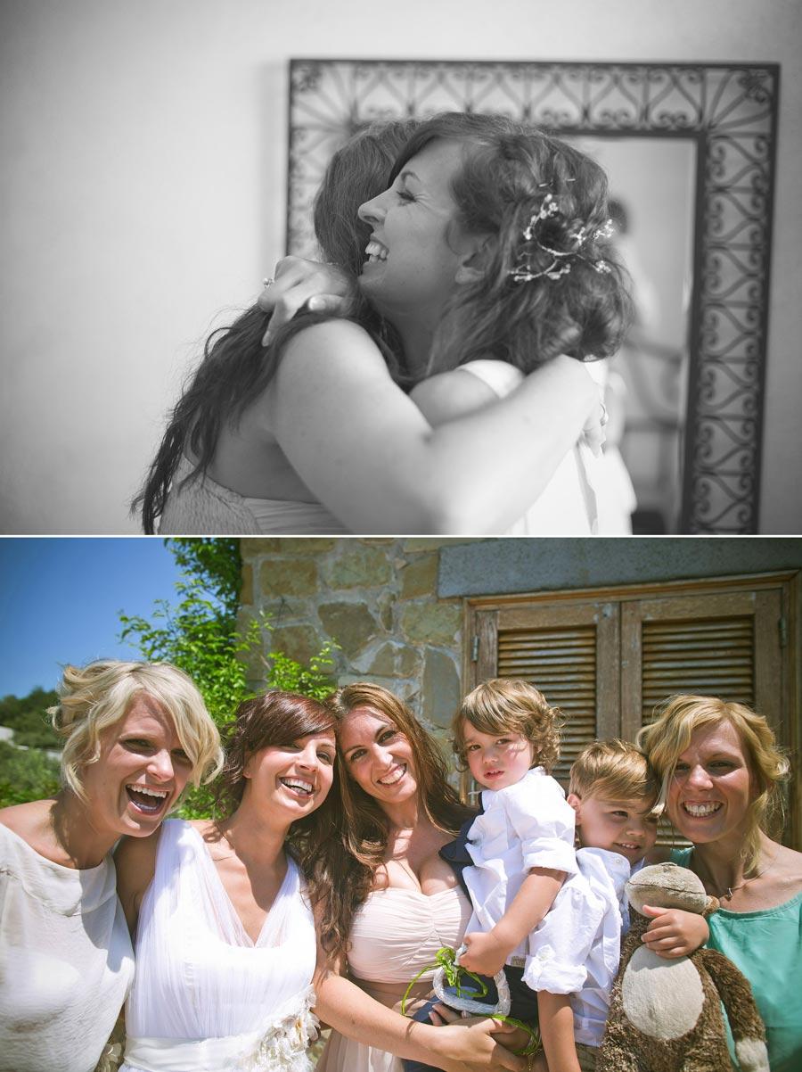 photo of bride and bridesmaids