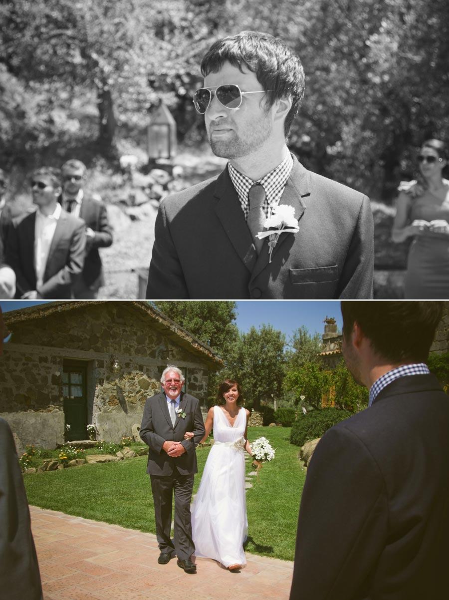 bride arrives at wedding