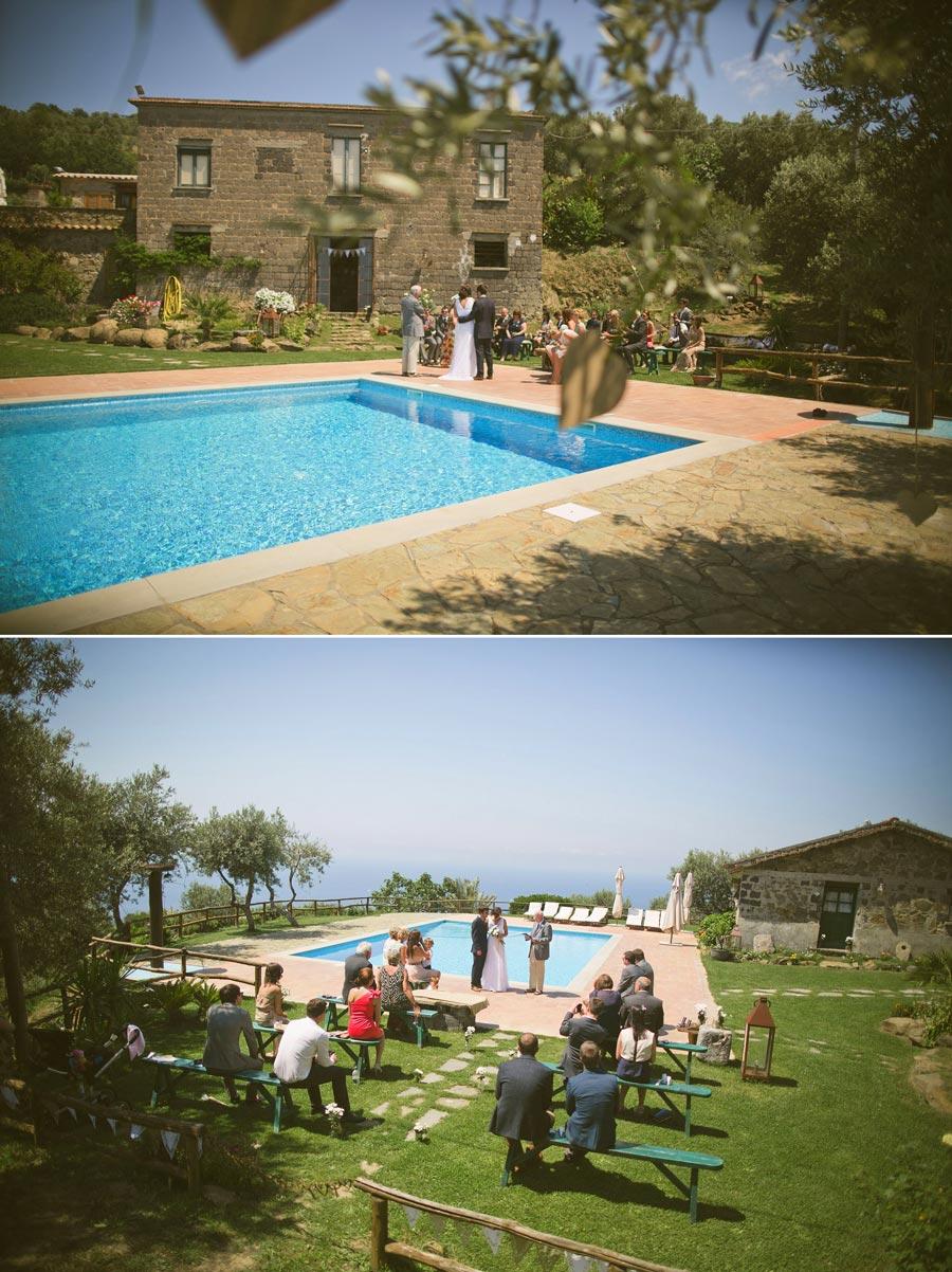 clifftop wedding ceremony photo