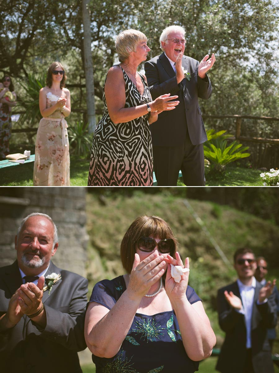 parents crying seeing their children married