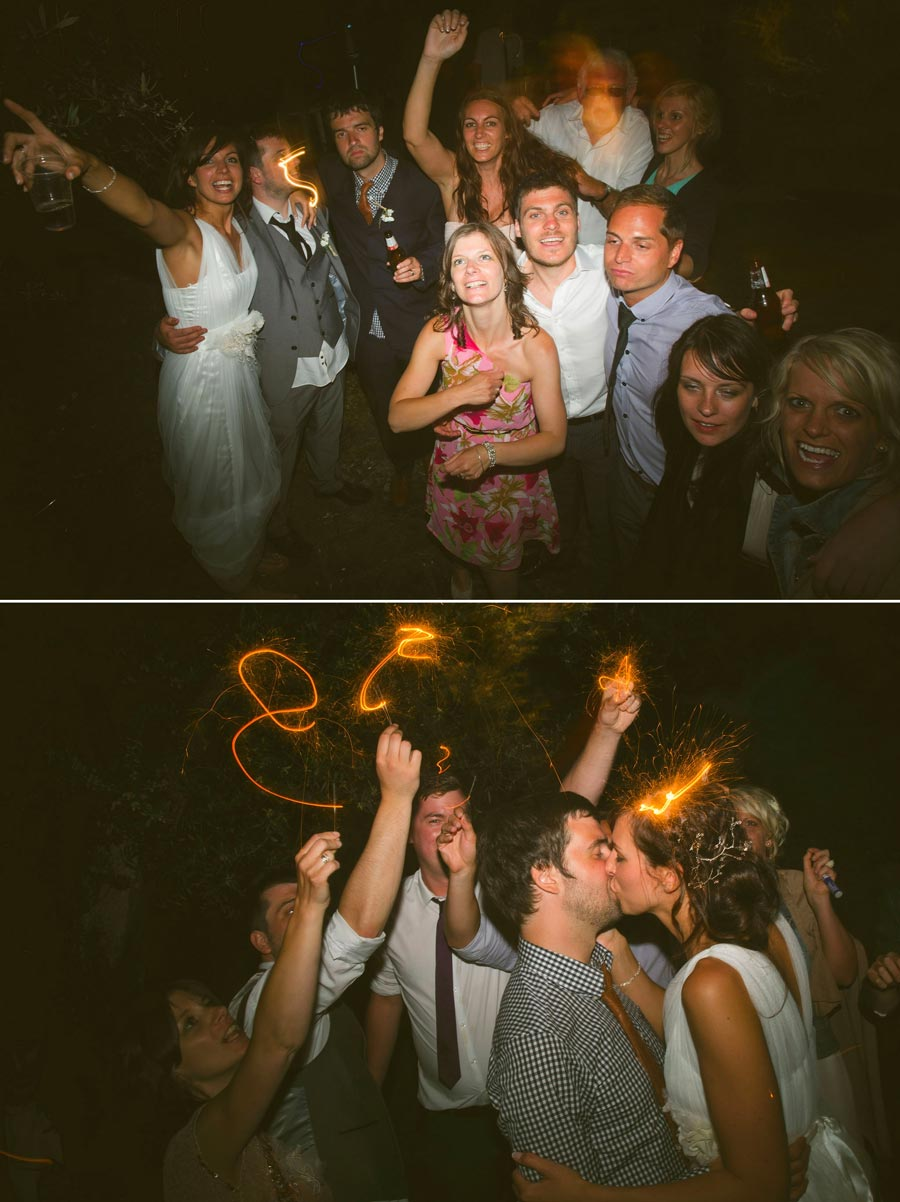 light trails wedding photography