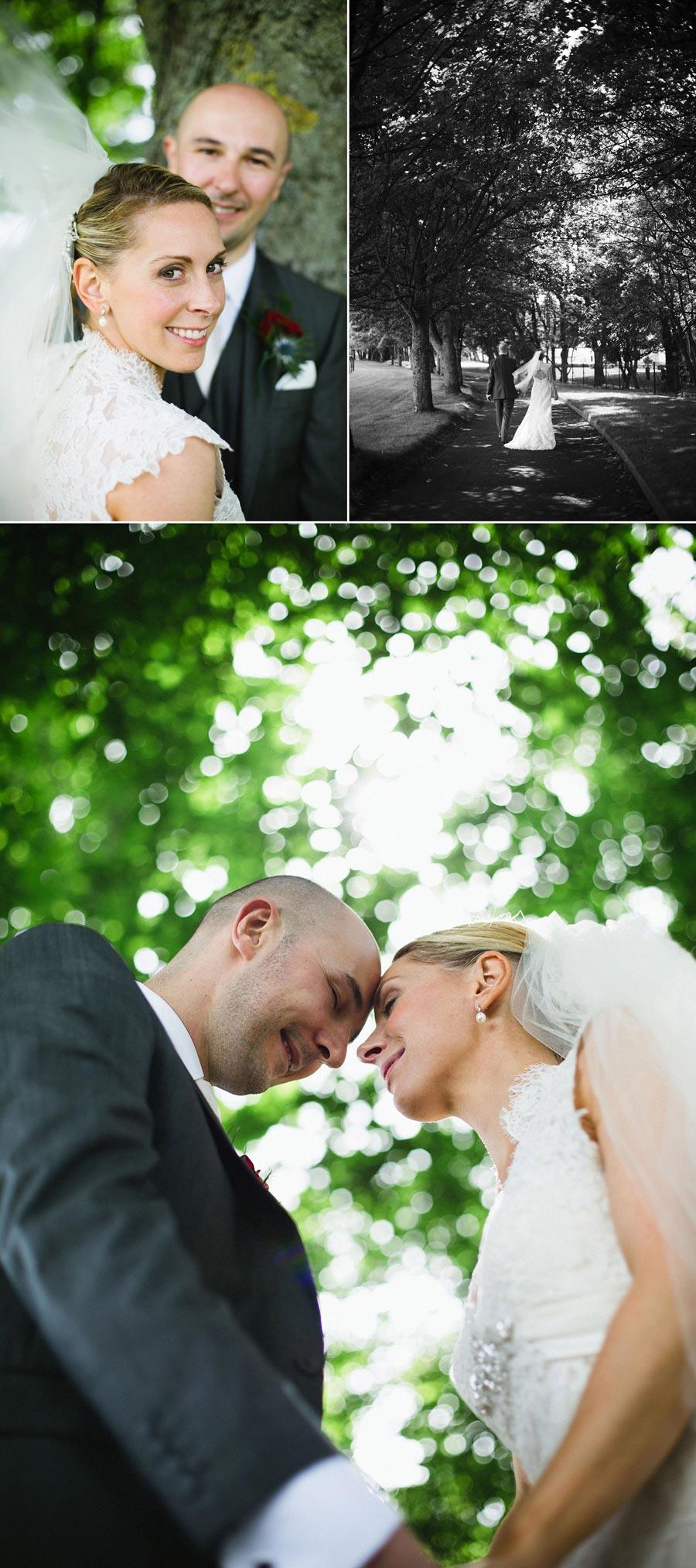 bride and groom bokeh