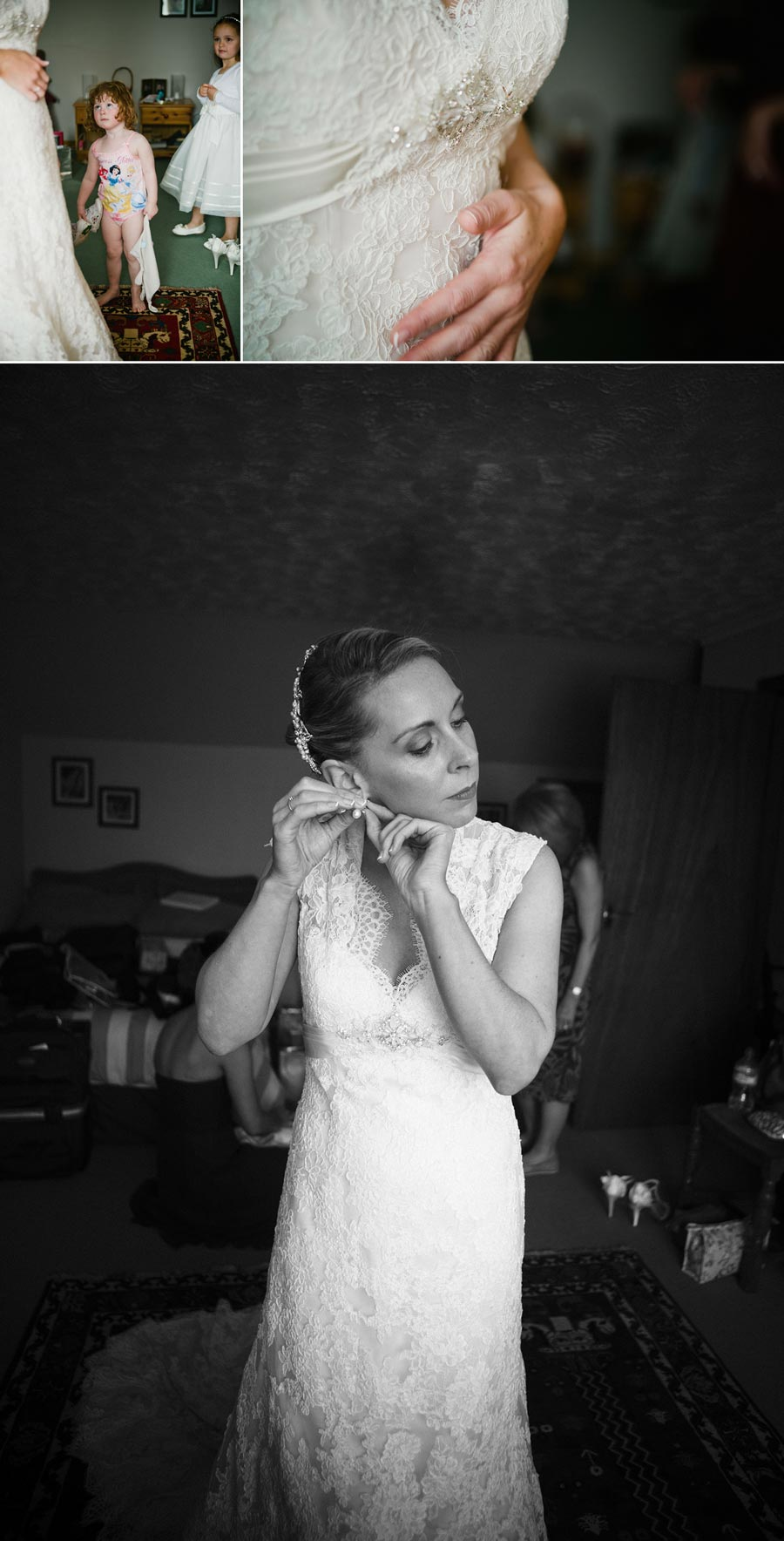Beautiful photo of bride getting ready