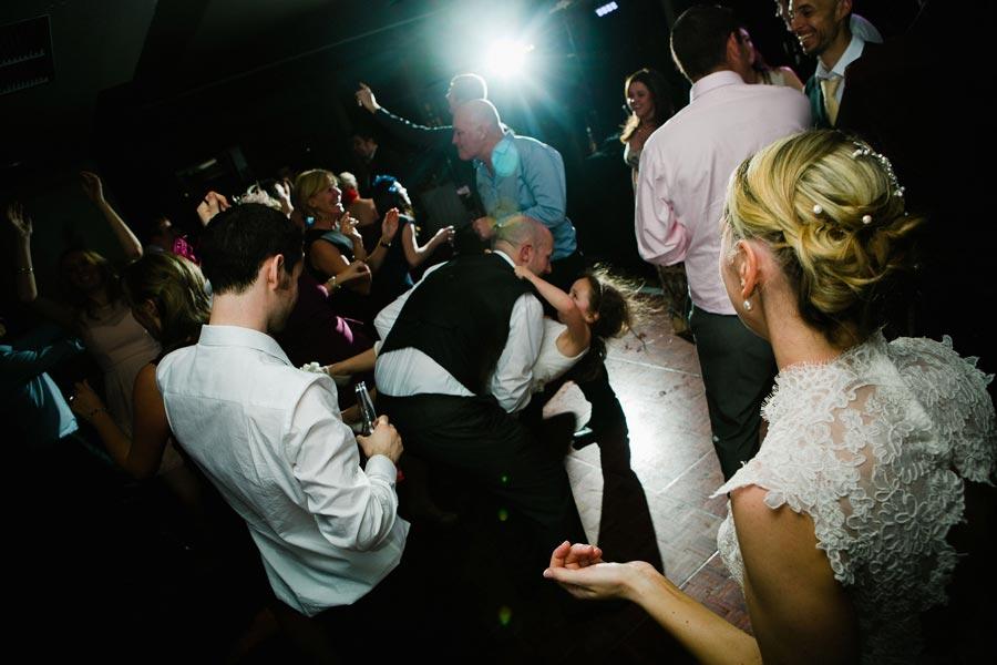 swinging the bridesmaid round