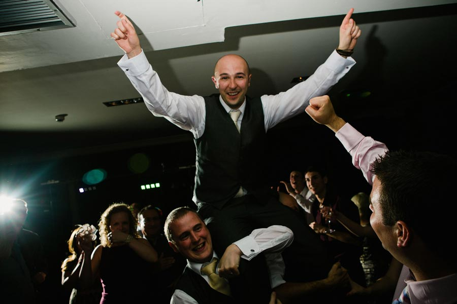 groom having fun on the dancefloor
