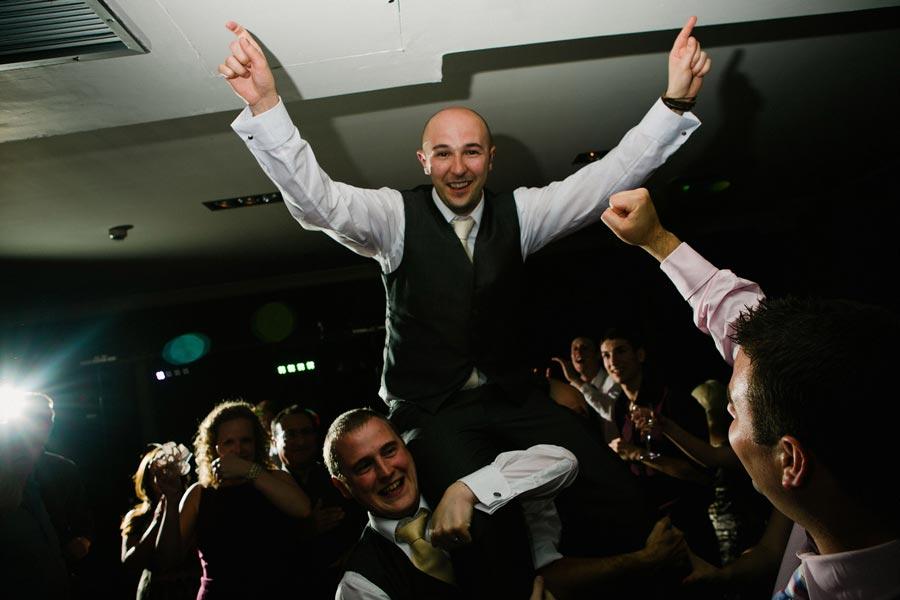 groom having fun on the dancefloor