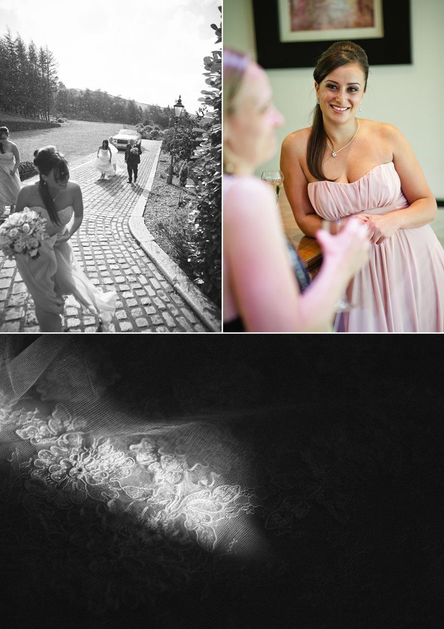 bride arrives for wedding