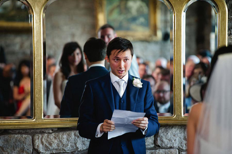 emotional reading by brother of the bride