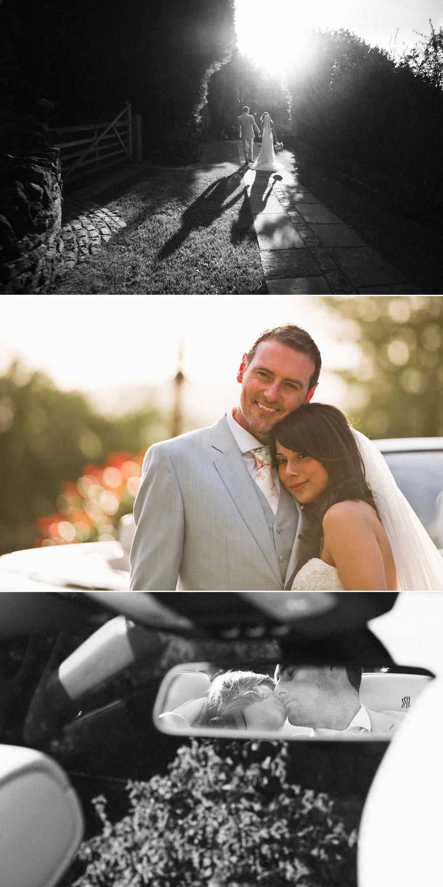 sunset bride and groom photography