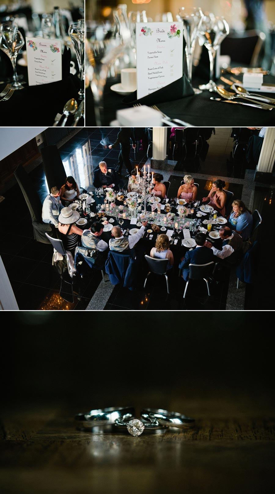 wedding breakfast table shot