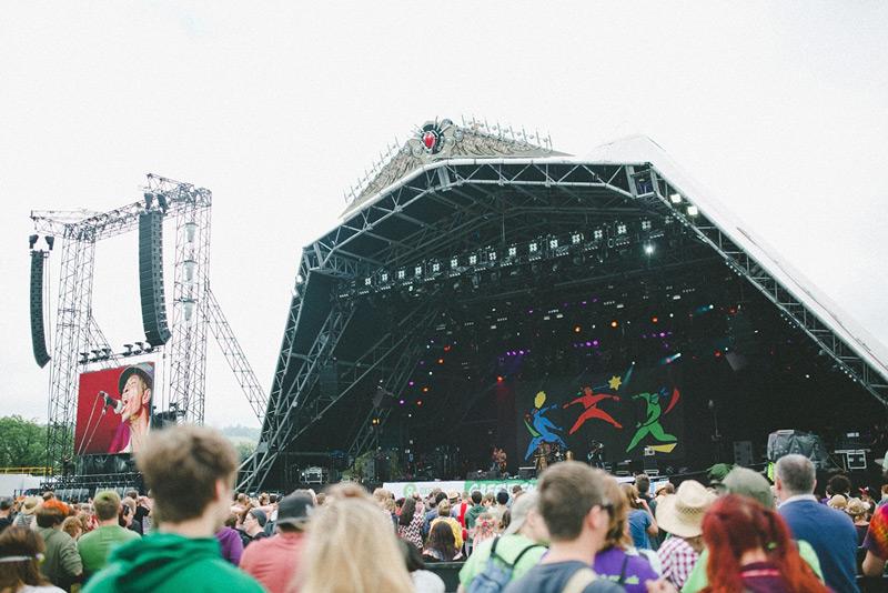 the pyramid stage at glastonbury