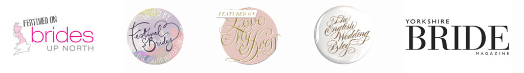 wedding blog badges such as love my dress