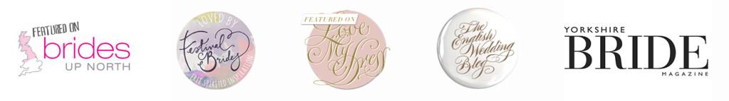 wedding blog badges such as love my dress