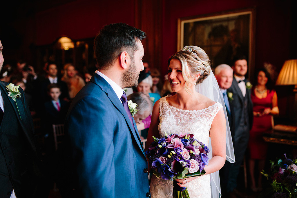 bride and groom at their wedding at thornton manor