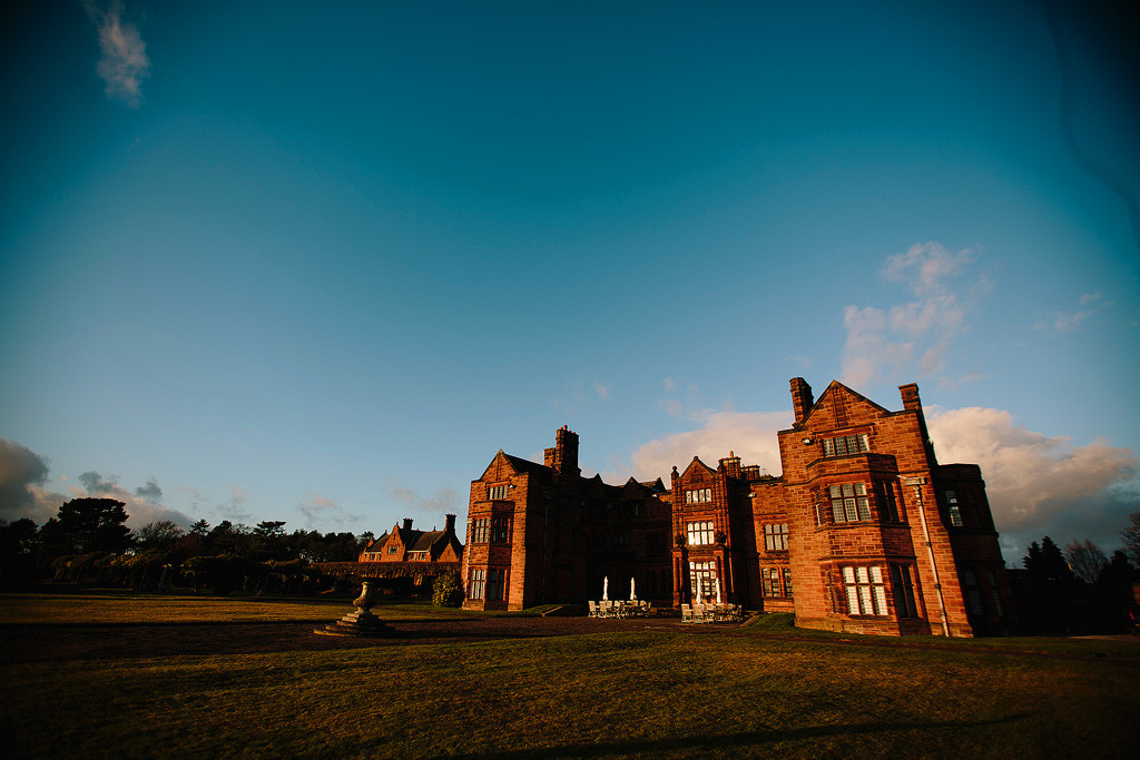 thornton manor at sunset