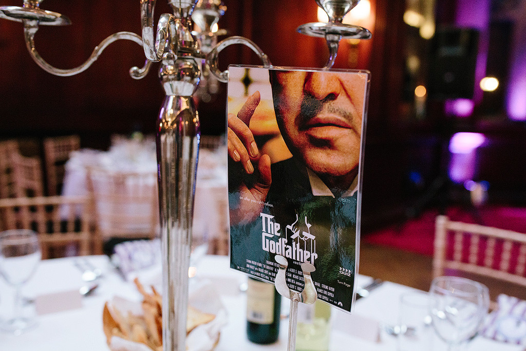 the godfather movie poster as a table decoration