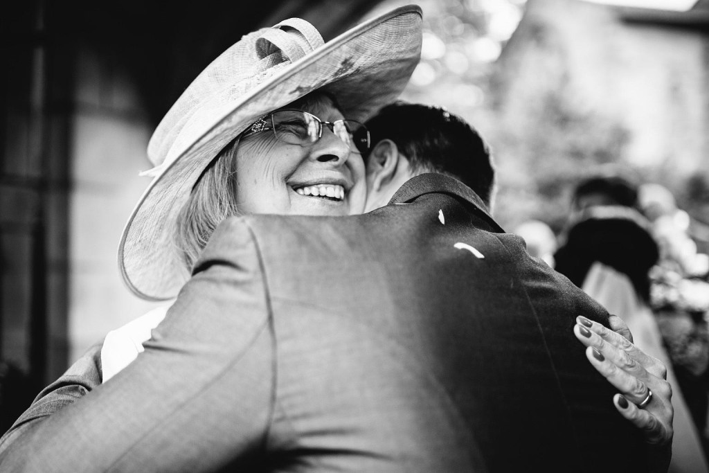 a beautiful smile from the groom's mother