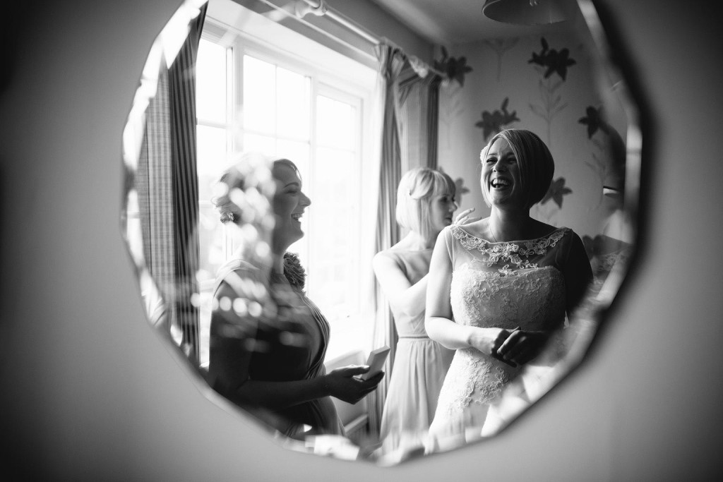 the bride laughs in manchester