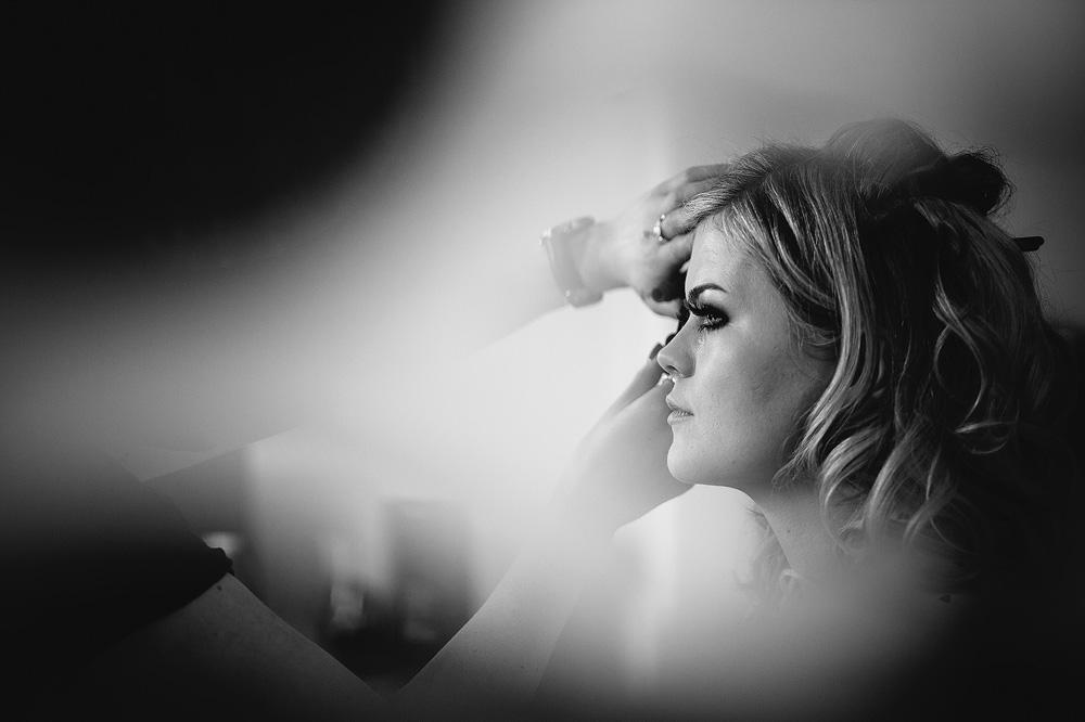 a profile photograph of the bride
