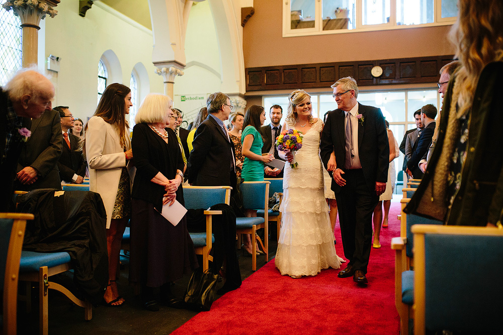 kate's dad walks her down the aisle