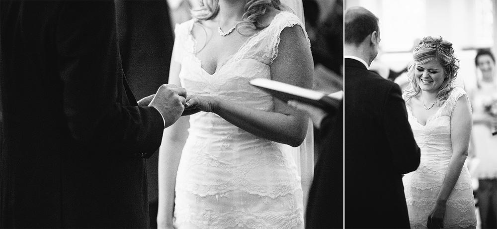 simon puts the wedding ring on kate's third finger of her left hand