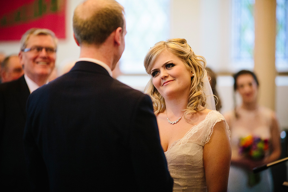 kate looks lovingly at her new husband
