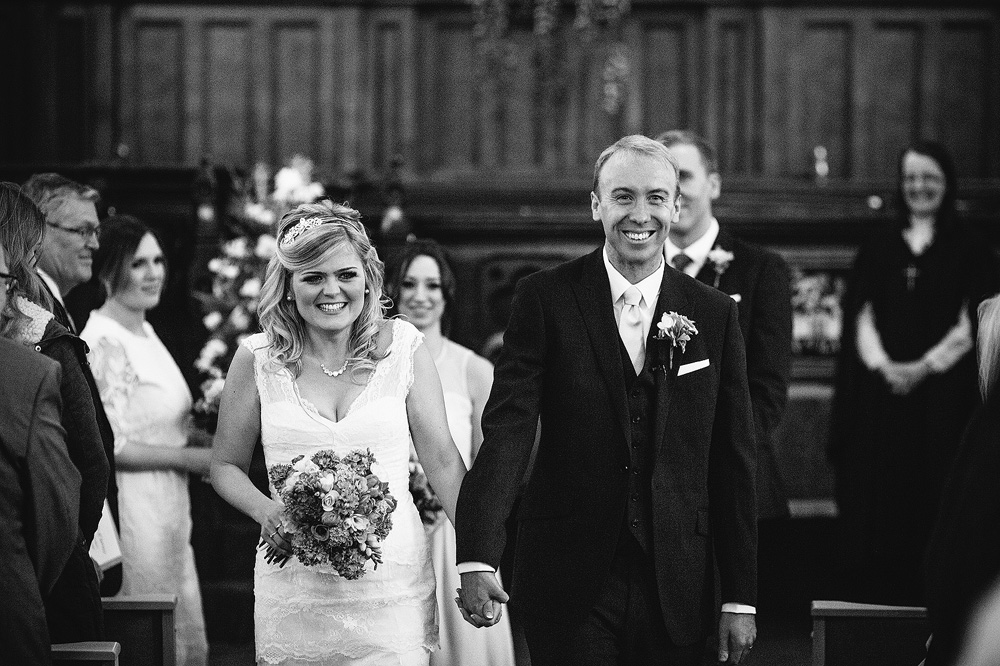 simon and kate walk down the aisle