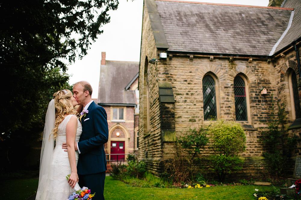 simon and kate outside chorlton methodist church