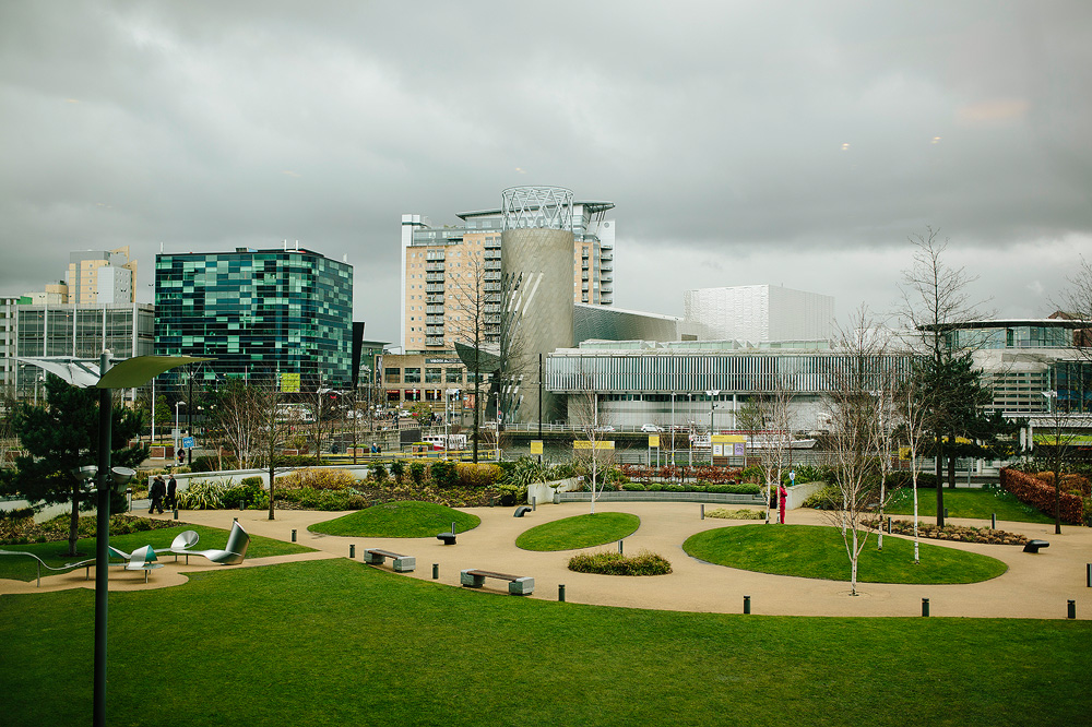 a wide shot of media city