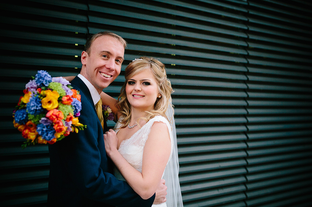 a perfect bride and groom portrait