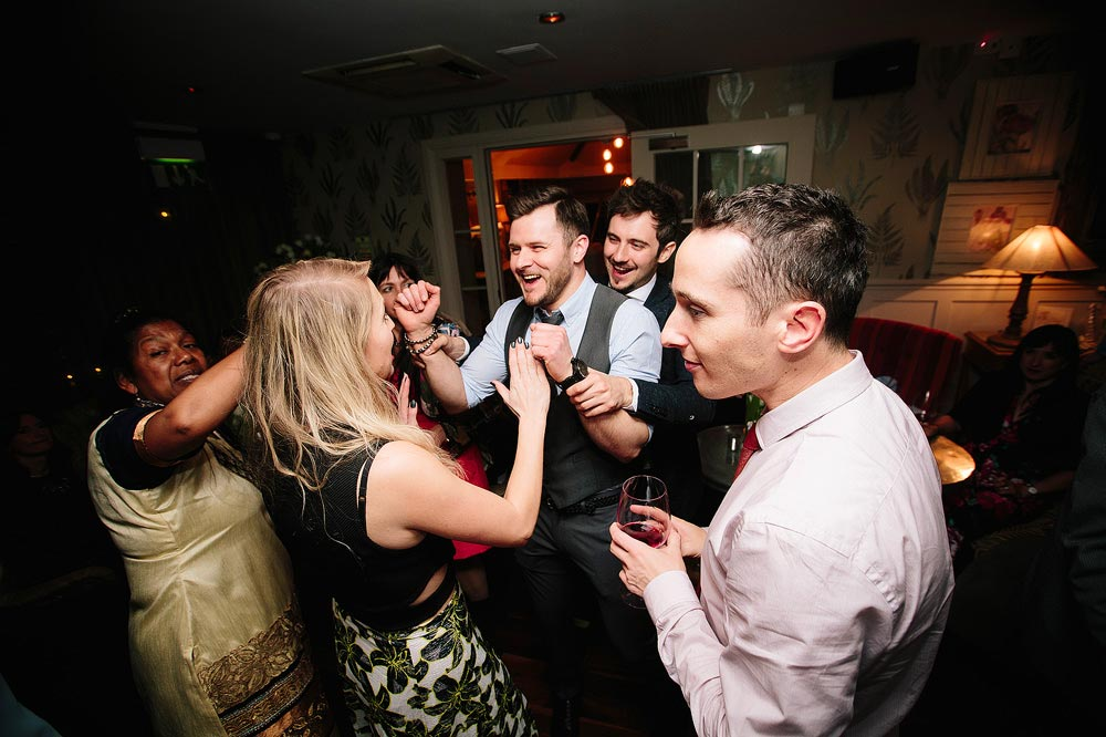 Some of the younger guests have fun on the dancefloor.