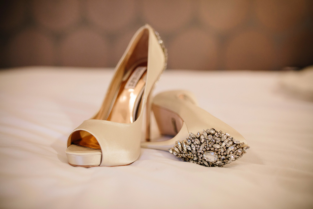 The wedding shoes.