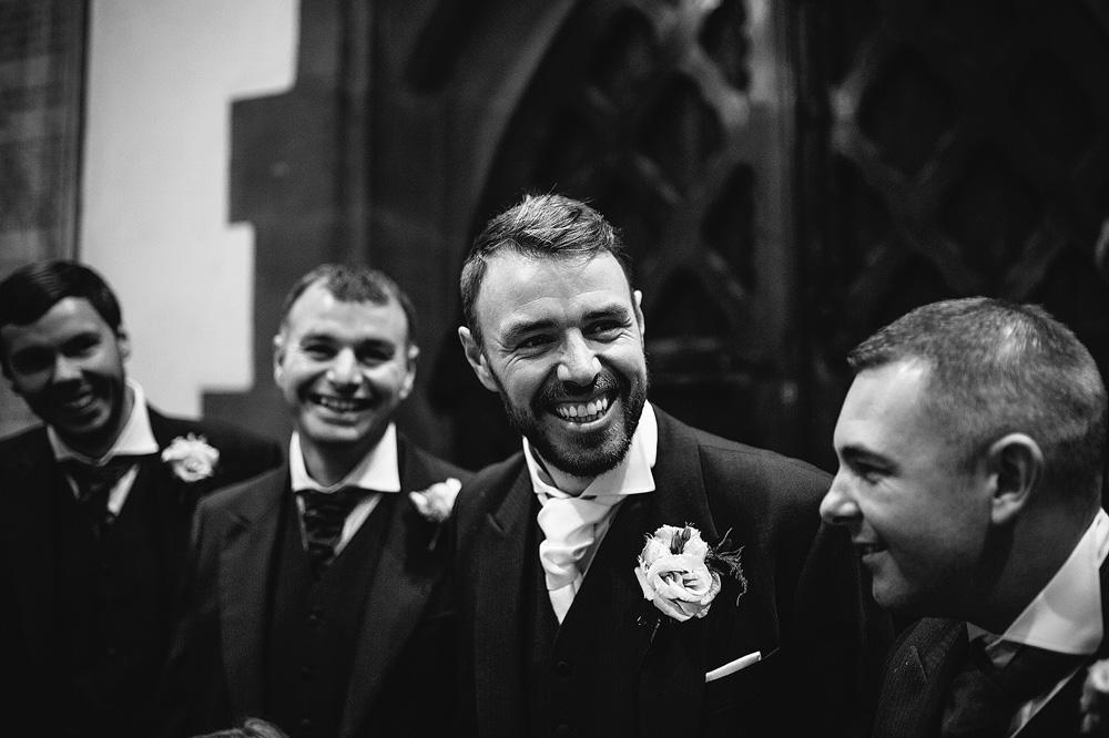 Ian with his groomsmen.