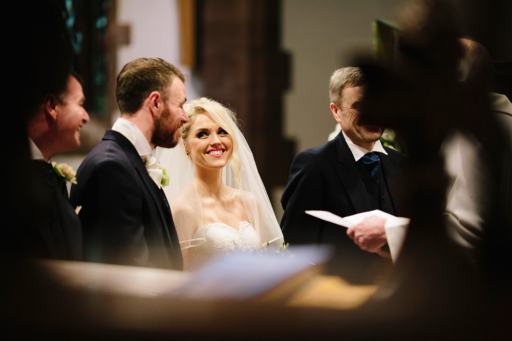 Adele smiles at her new husband during the wedding ceremony.