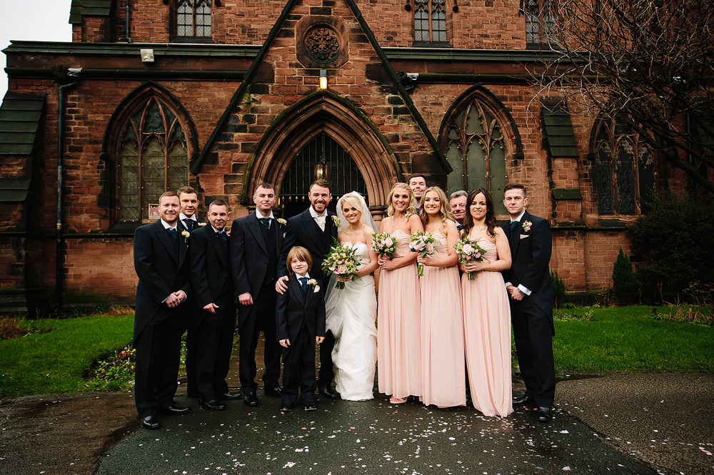 A photograph of the bridal party.
