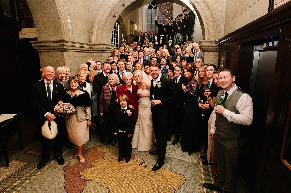 A group wedding photograph.