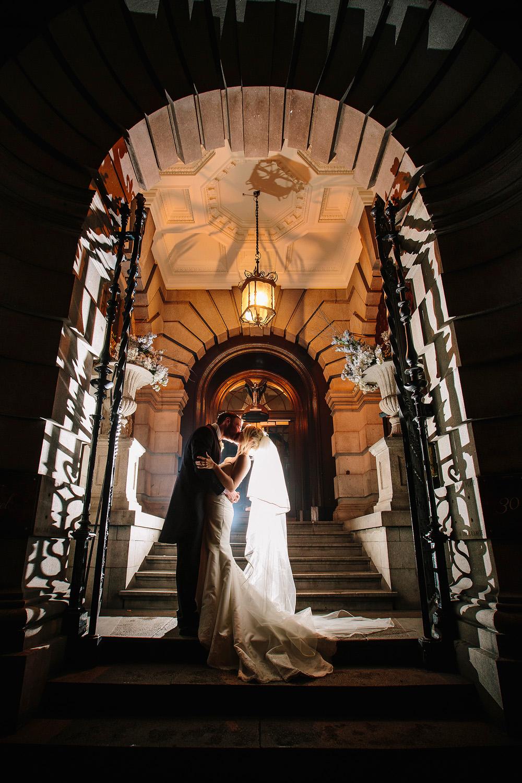 Off camera flash wedding photography.