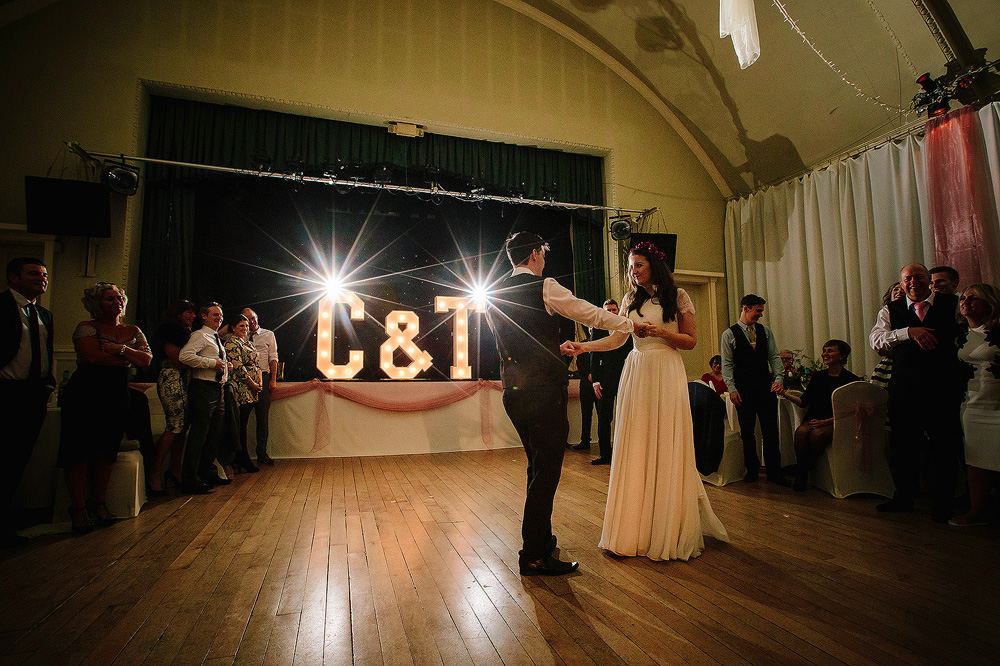 The bowdon rooms dance floor is set on a bed of springs.