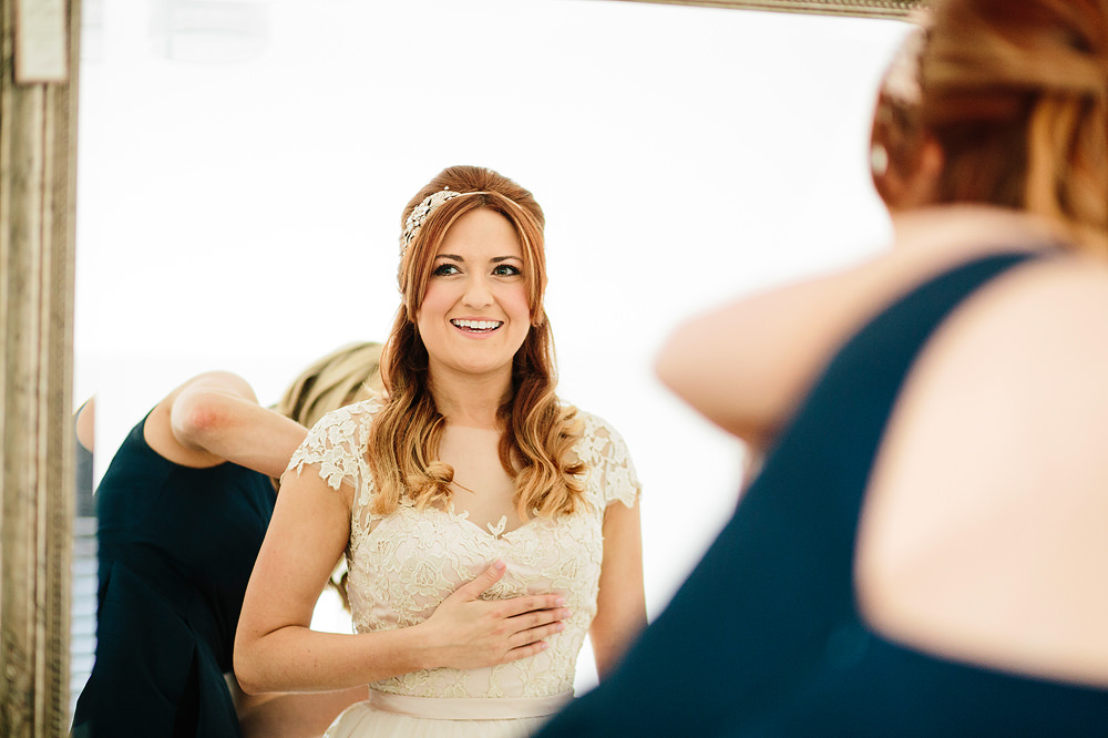 the bride looks nervous