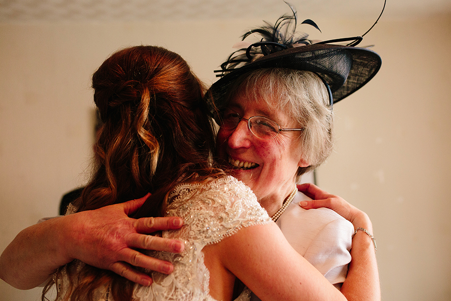 a big hug from hannah's mother