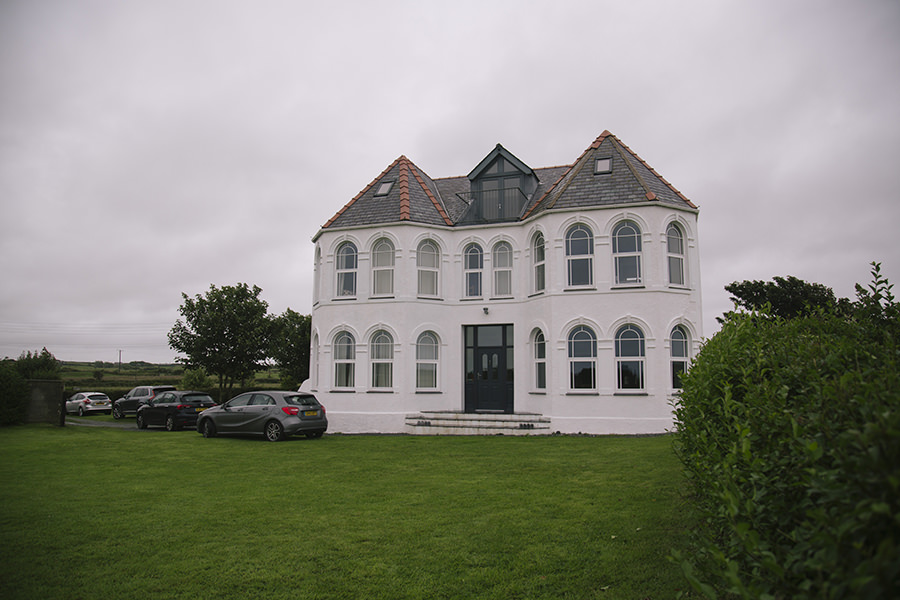 a big white house in anglesey